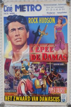 Golden Blade, Original Belgian Movie Poster, Rock Hudson, Piper Laurie, '53